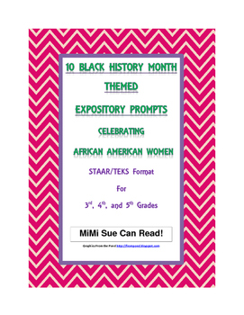 10 Black History Month (Female) Expository Writing Prompts