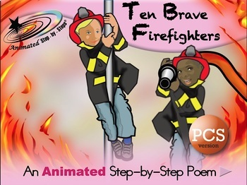10 Brave Firefighters - Animated Step-by-Step Poem PCS