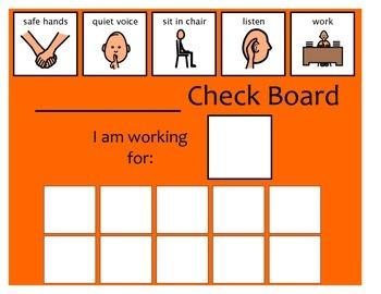 10 Check Token Board - Orange