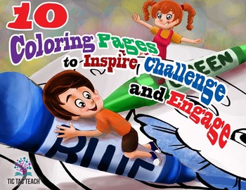 10 Coloring Pages for Preschool Children