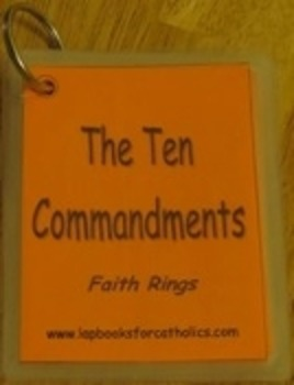 10 Commandments Faith Ring