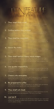 10 Commandments of Feature Writing