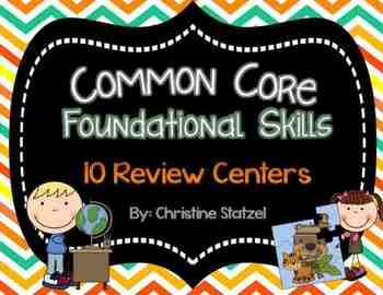 10 Common Core Review Centers {Foundational Skills}