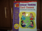 10 Critical Thinking Card Games ISBN 0-439-66542-6