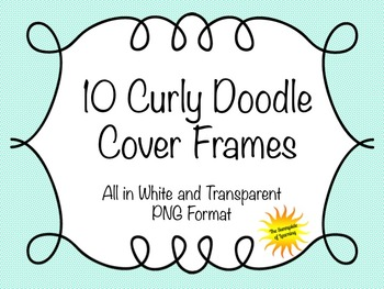 10 Curly Doodle Cover Frames
