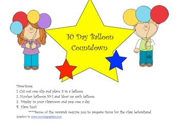 10 Day Balloon Countdown to Summer
