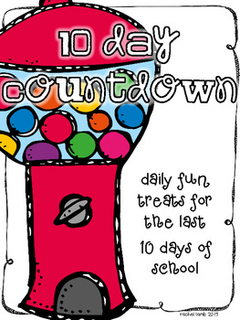 10 Day Countdown Gumball Style {a daily treat for the last