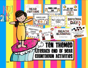 10 Day Countdown for the End of the Year {Literacy Fun & K