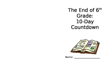 10-Day Countdown to the End of the Year Booklet
