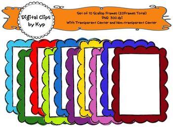 10 Digital Scallop Frames