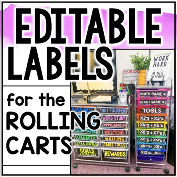 10 Editable Labels for the 10-Drawer Cart