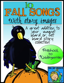 Fall Circle Time Songs with Felt Board Images for Preschoo