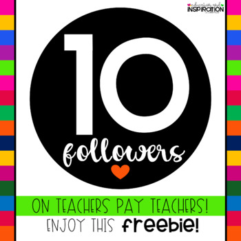 10 Followers Mystery FREEBIE from Education and Inspiration