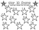 10 Frame Activity Star Themed FREEBIE