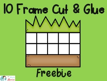 10 Frame Cut and Glue Activity