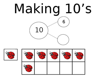 10 Frame Practice (Lady Bugs) Printable/Projectable