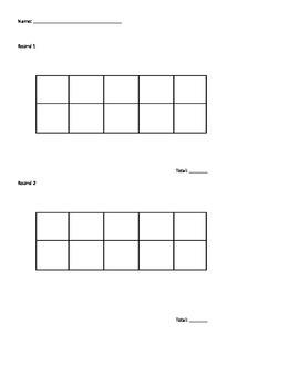 10 Frame Score Card