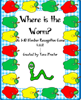 Where is the Worm Number Recognition Game