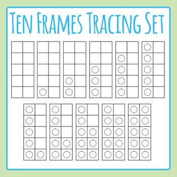 10 Frames Tracing Template Set Clip Art Pack for Commercial Use