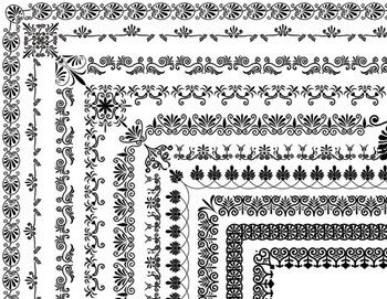 10 Full Page Digital Border Clip Art Flourish Swirl Border