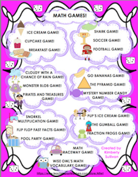 Math Games! Money Basic Operations Grades 4-6  Centers  Ta
