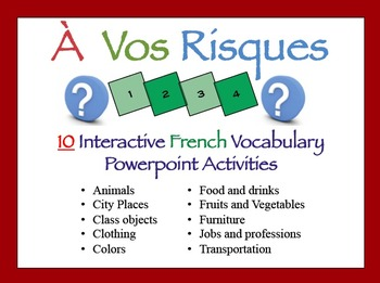 10 Interactive French Vocabulary Powerpoint Activities (À