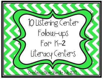 10 Listening Center Follow Ups for Literacy Centers