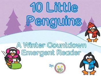 10 Little Penguins, A Countdown Emergent Reader