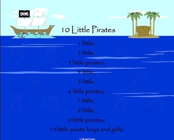 10 Little Pirates Poem / Shared Reading Interactive SMARTB
