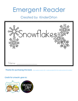 10 Little Snowflakes - emergent readers