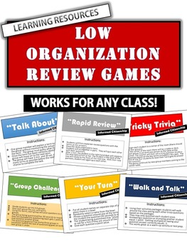 Fun Active Games: 10 Low Organization Games - Works for an