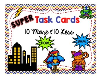 10 More & 10 Less Task Cards