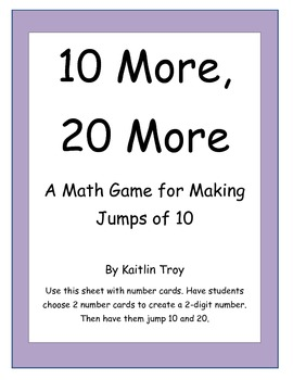 10 More, 20 More: A Jumping 10 Game