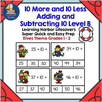 10 More and 10 Less Adding and Subtracting 10 Level B  Sup