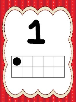 10  Numbers 1-10 Ten Frame Posters/Anchor Charts for your
