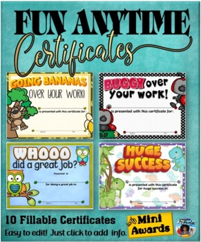 Certificates – Fun Anytime Certificates