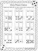 10 Place Value Worksheets. Dice, Dominoes, and Build It-Wr