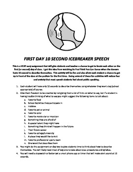10 Second First Day Back to School Speech