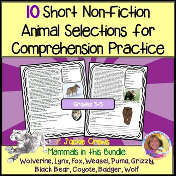 10 Non-Fiction Animal Selections for Comprehension Practic