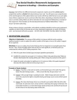 10 Social Studies Assignments