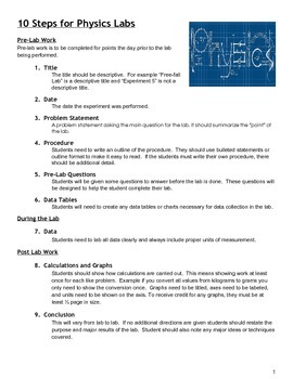 10 Steps to a Perfect Physics Lab Notebook