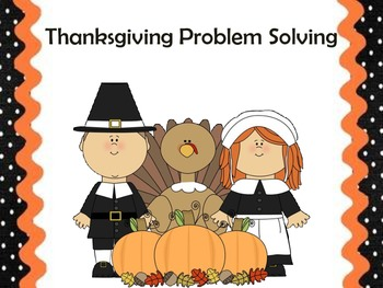 10 Thanksgiving Common Core Problem Solving Practice pages