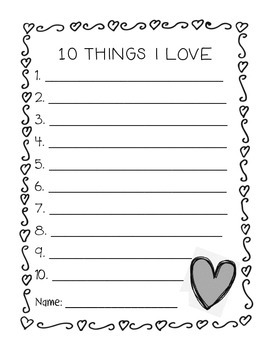 10 Things I Love