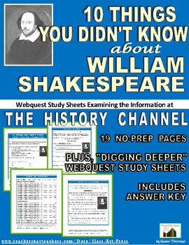 10 Things You Didn't Know about Shakespeare: History Chann