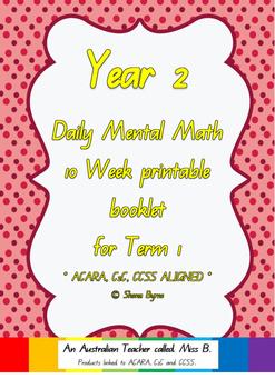 ACARA, Year 2, Term 1, 10 Week Daily Computation Warm-up M