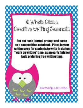 10 Whole Class Journal Prompts