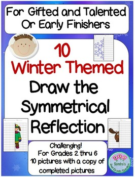 """10 Winter Themed """"Color the Symmetry Reflection"""" for GT an"""
