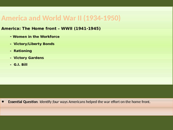 10. World War II - Lesson 3 of 5 - American Homefront duri