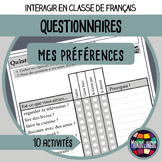 FFL/FSL - Activities to learn French - Questionnaires - Ve