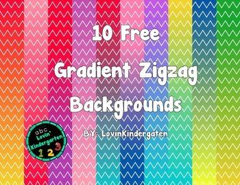 10 free Gradient Zigzag Backgrounds